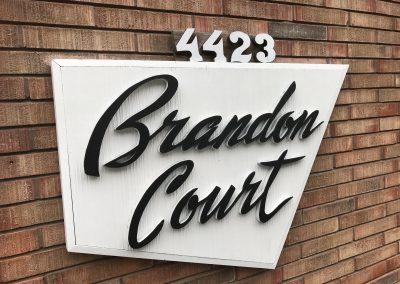 Brandon Court Sign