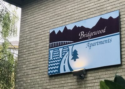 Bridgewood Apt Sign