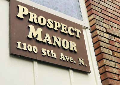 Prospect Manor Sign